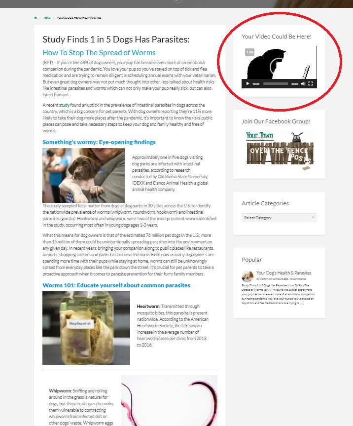 VIDEO PREMIUM: Articles Sidebar, Top